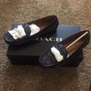 Coach back loafers